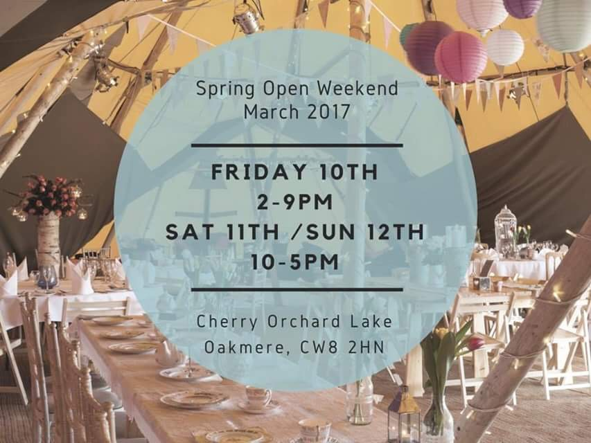 all about me tipi spring open weekend 2017