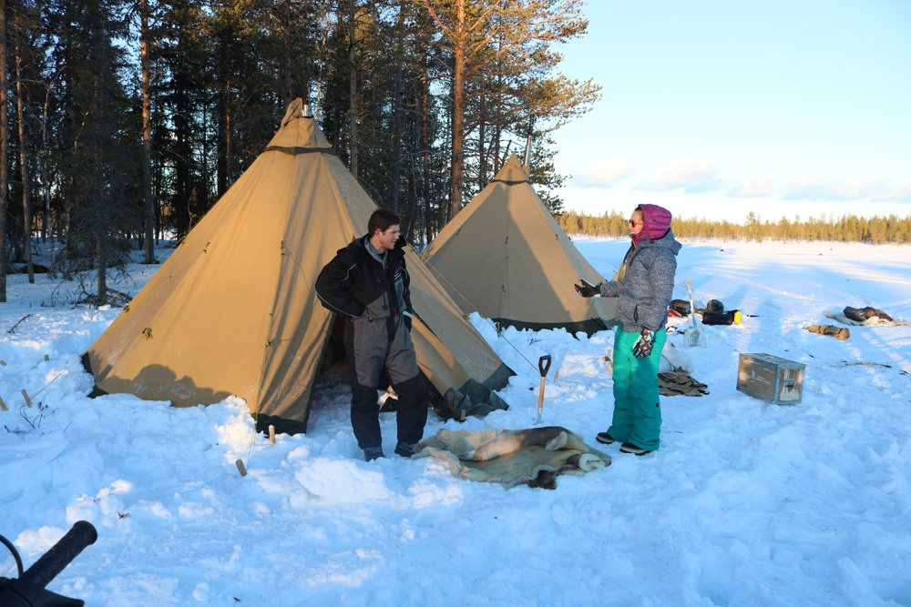 setting up c& & All About Meu0027s Swedish Lapland Wilderness Adventure with Tentipi