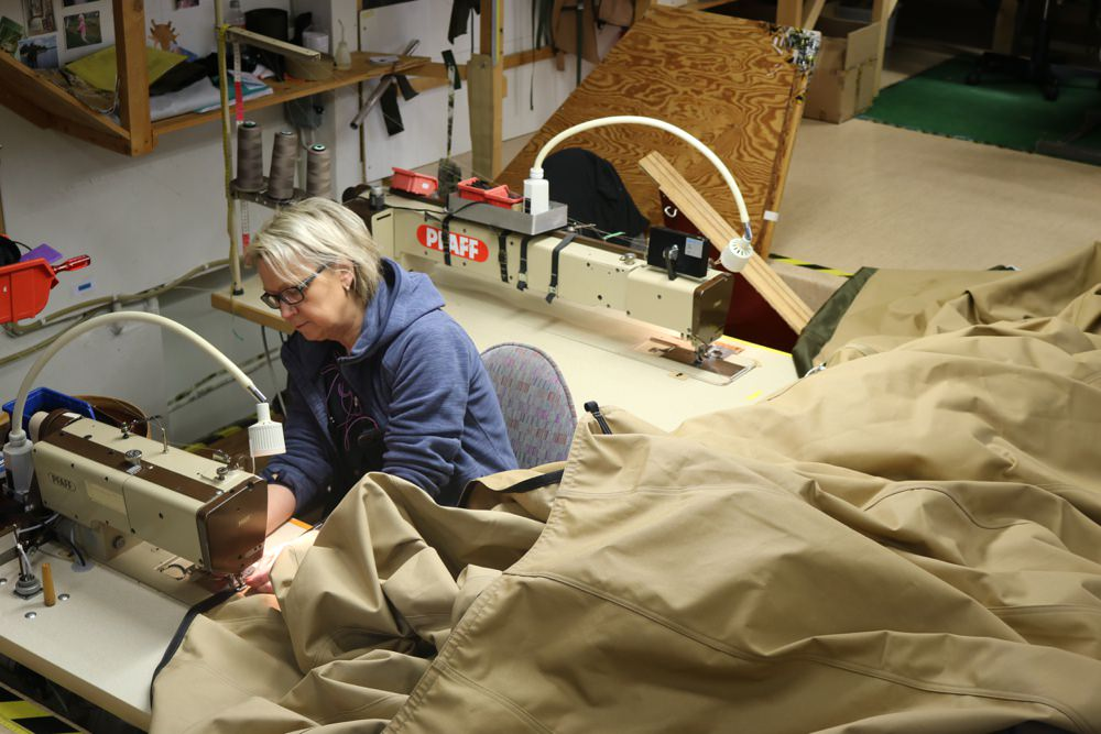 staff at work on Tipis at Tentipi factory