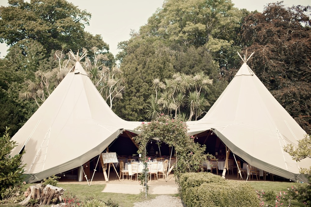 The Tipis ready for the guests