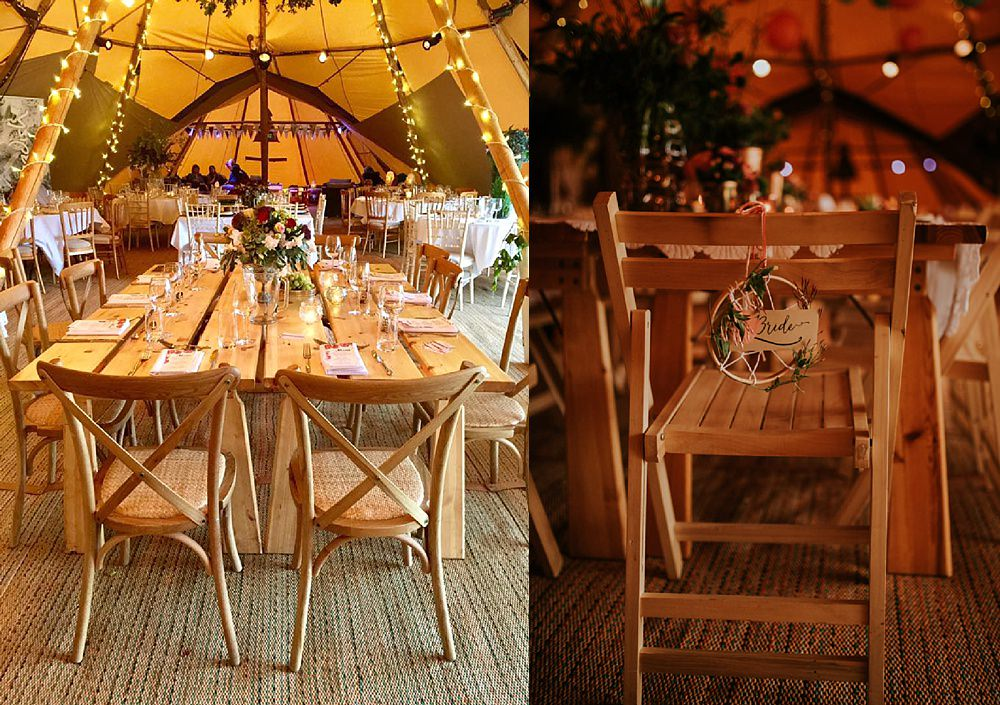 chair hire cheshire tipi wedding