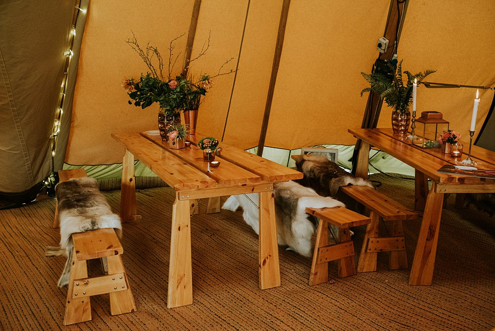 table and bench hire cheshire tipi