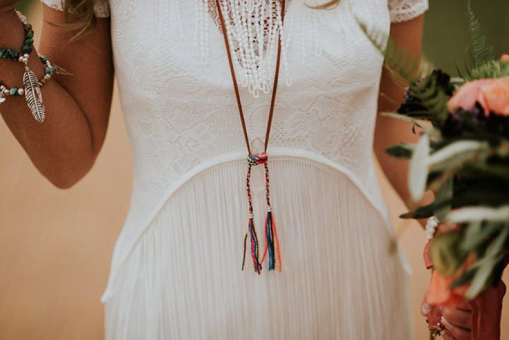 Boho necklace detailing