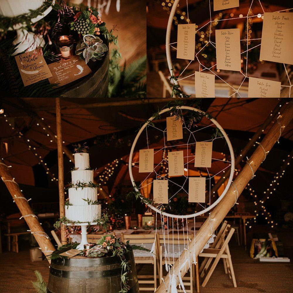 Boho dreamcatcher table plan