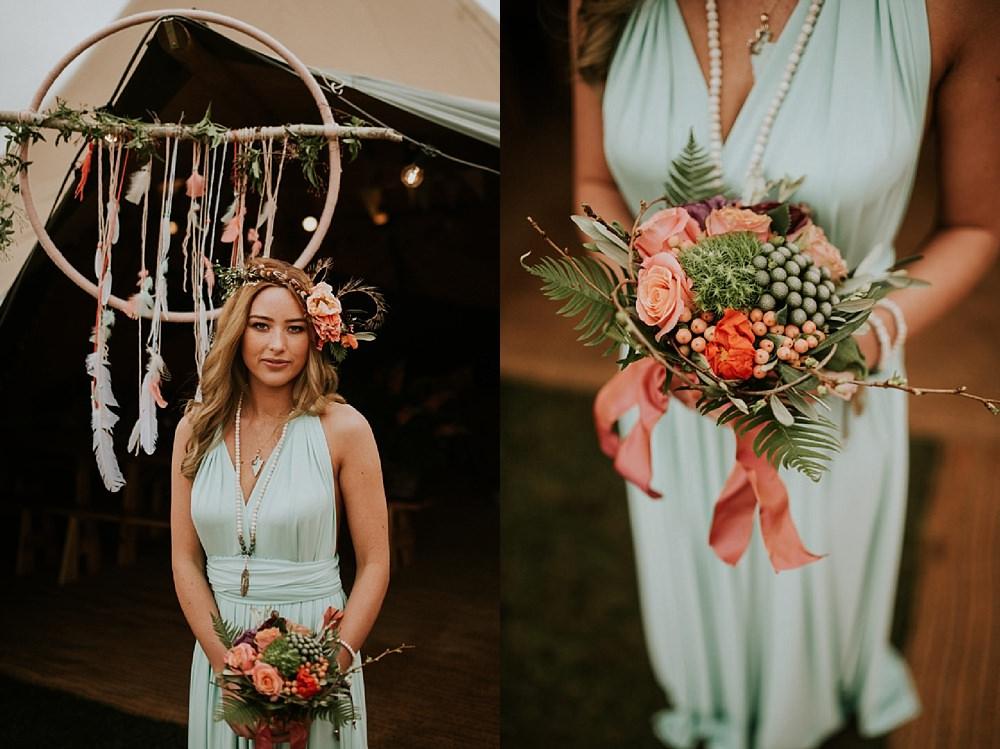 Tipi boho bridal style
