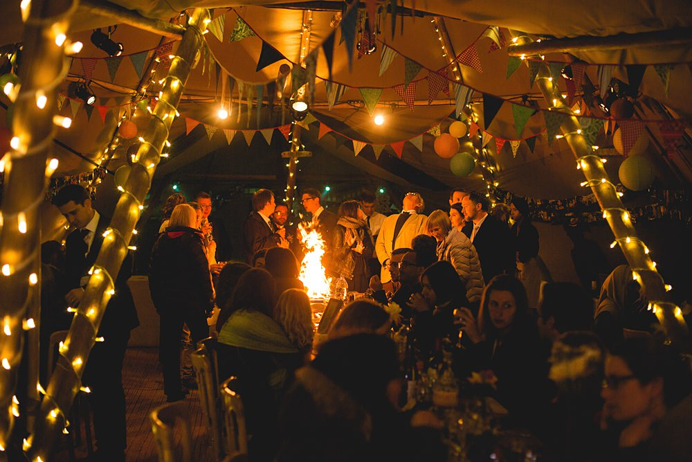 Christmas party and markets in a tipi