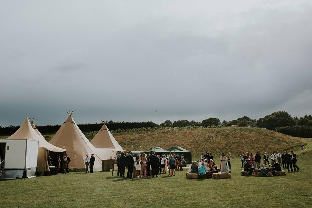 Boho Wedding Tipi at Delamere events