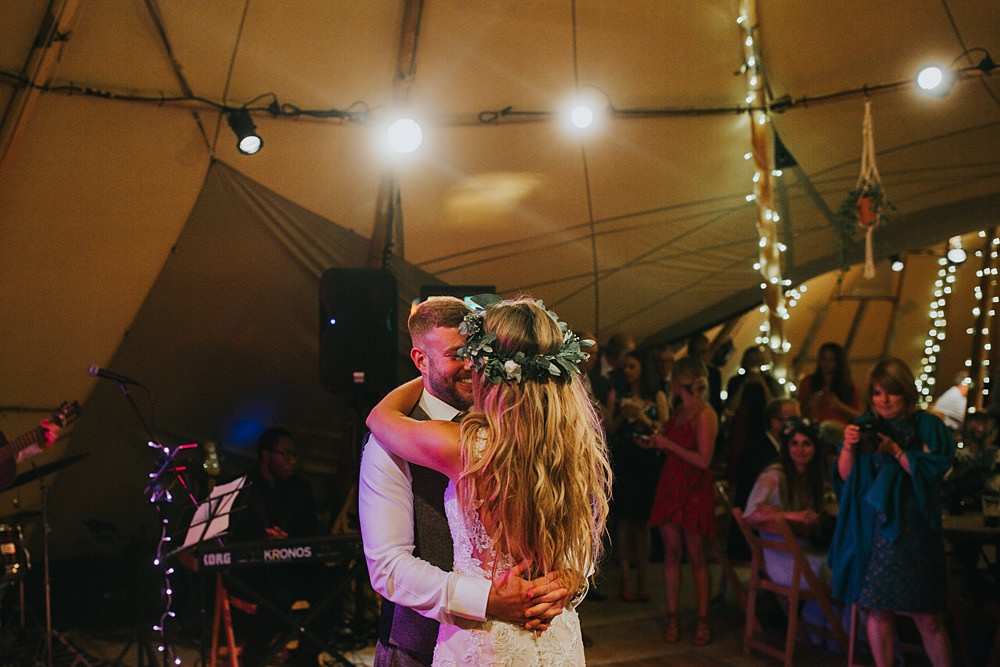 boho tipi first dance