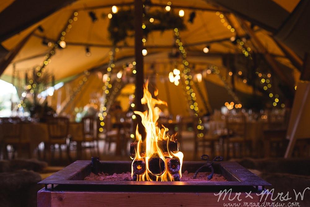 toast marshmallows in the tipis