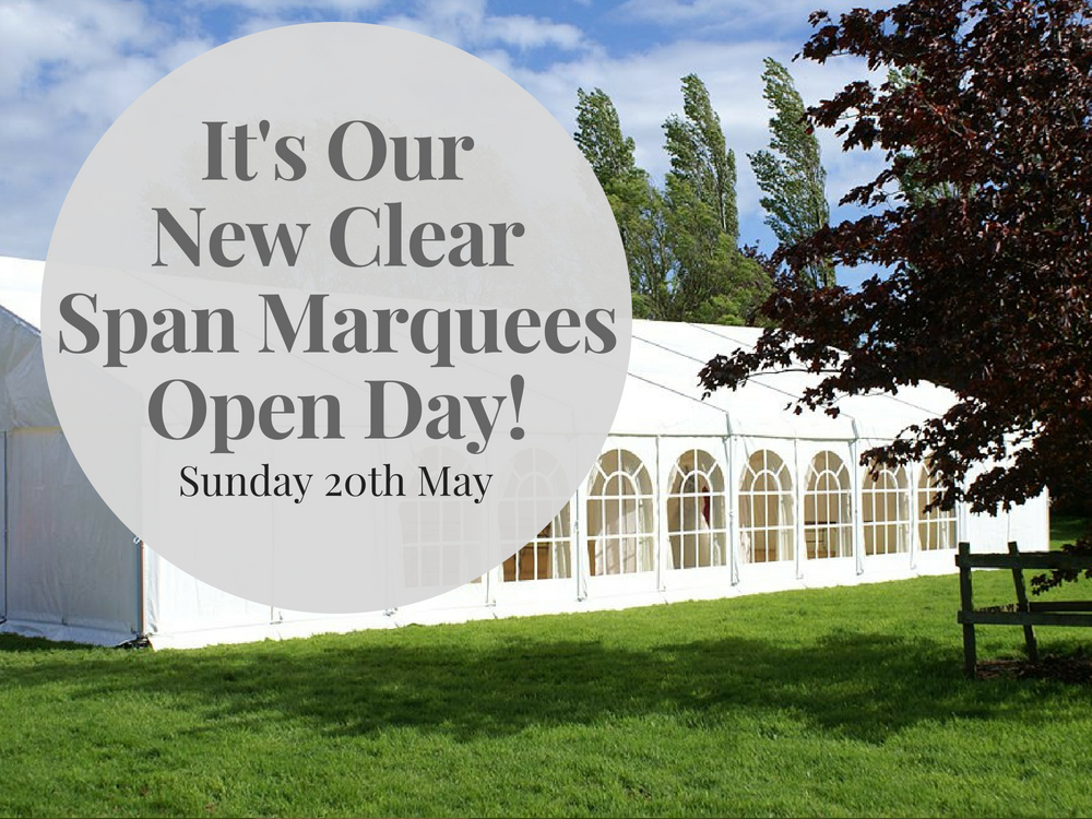 Clear span marquee open day