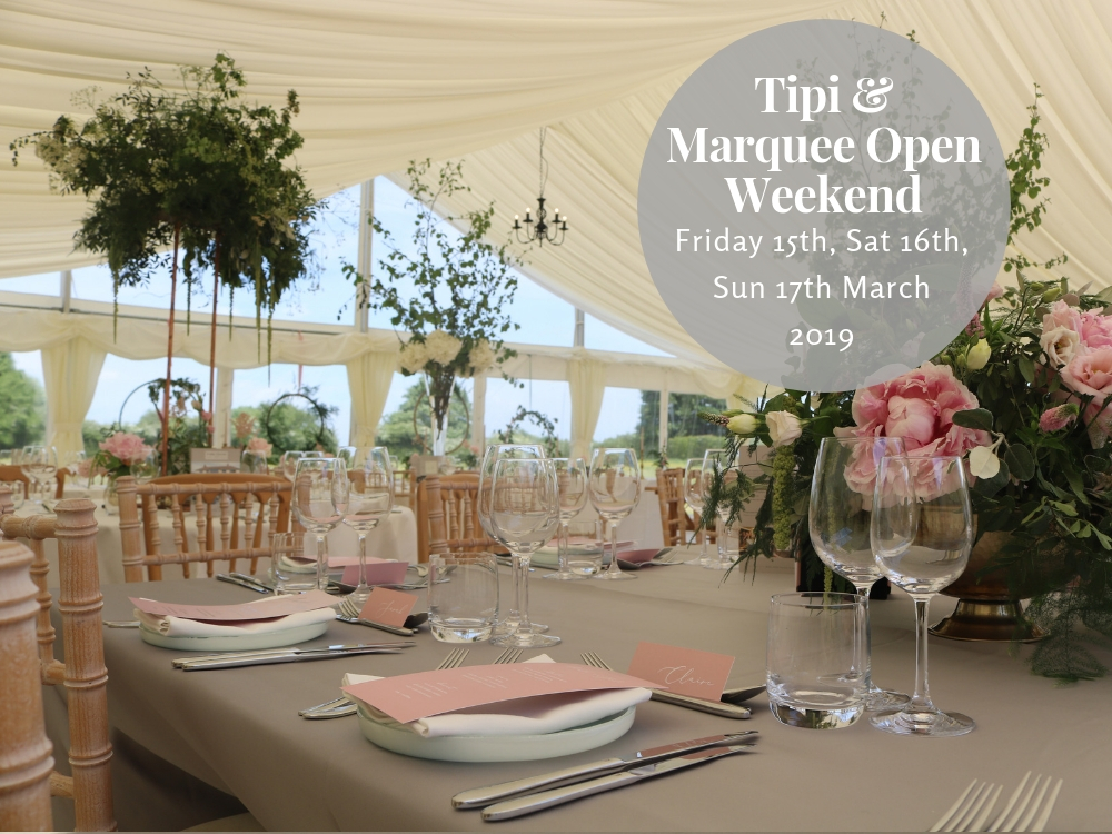 spring tipi marquee open day