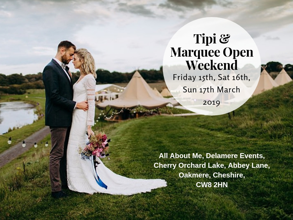 tipis and marquee open weekend