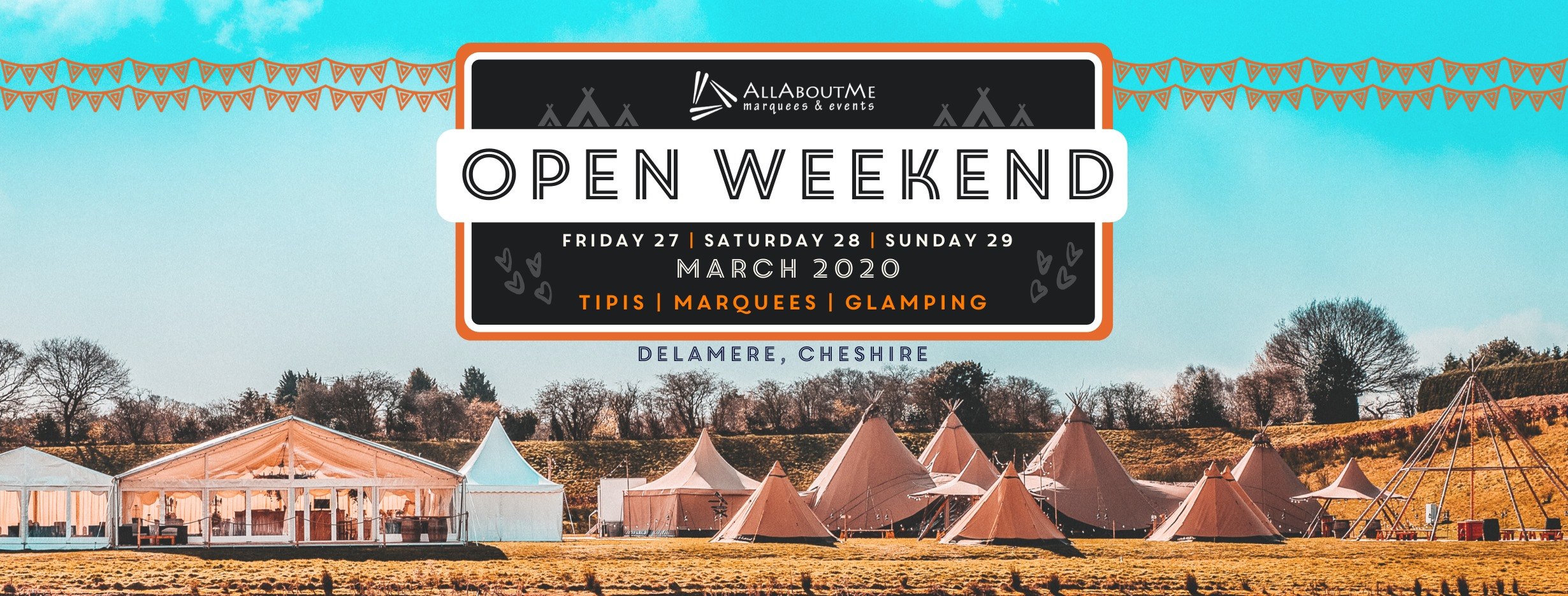 All about me tipi and marquee open weekend 2020