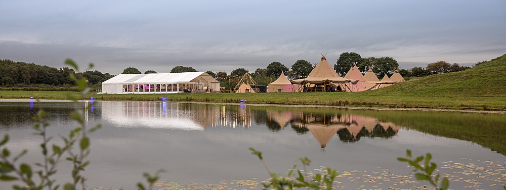tipi and marquee