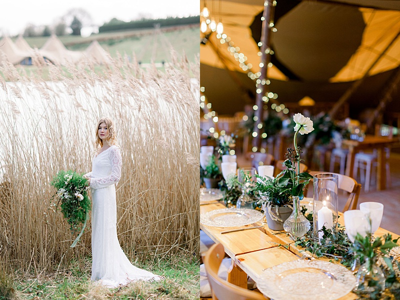 Tipi Woodland wedding setting